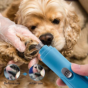(D111) AUSHEN Dog Nail Grinder, Dog Nail Trimmer Clippers Electric