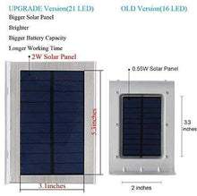 Load image into Gallery viewer, (Q710)Solar Lights Outdoor Motion Sensor, iThird LED Solar Powered Security Lights Stainless Steel for Yard Patio Garage Waterproof 3 Modes Super Bright