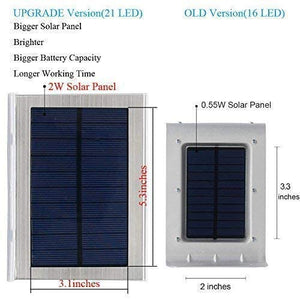 (Q710)Solar Lights Outdoor Motion Sensor, iThird LED Solar Powered Security Lights Stainless Steel for Yard Patio Garage Waterproof 3 Modes Super Bright