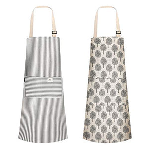 (H237)Urijk Aprons for Women Men,2 Pieces Cooking Apron Adjustable Kitchen Apron Soft Chef Apron apron for women with 2 Pockets