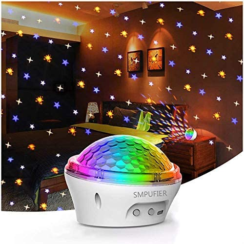 (E520)smpufier Star Projector, Night Light Projector, LED Lights for Bedroom/Room with 4 Modes and Timer for Kids Adults Gifts Home Party Dance Floor