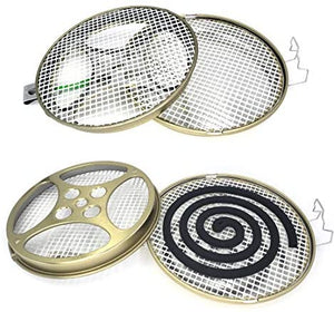 "(T371)Portable Mosquito Coil Holder - Mosquito Coil Burner for Indoor & Outdoor Patio, Lawn & Garden for Camping, Hiking (2 Pack 5.35"")"