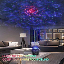 Load image into Gallery viewer, (R245)Star Projector RegeMoudal Night Light Projector with LED Nebula Cloud, Galaxy Starry Projector Light Build-in Bluetooth Stereo Music Speaker