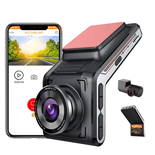(J201)SAMEUO 2K Dual Dash Cam, FHD 1440P Front, 1080P Rear Camera, 2 Inch LCD Screen, 170° Wide Angle, Night Vision, 24hr Motion Detection Parking Mode, ...