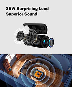 (J750)Wireless Speaker Bluetooth with Lights,Fully Waterproof Bluetooth Speaker,25W Portable Bluetooth Speakers,30H Playtime,Bluetooth 5.0,Outdoor,...