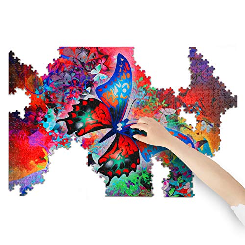 (G364)KENREE Puzzles for Adults 1000 Piece - Butterfly Puzzles - Wooden Puzzles for Adults - Puzzle Game - Education Game - Parent Child Game (Butterfly Jigsaw)