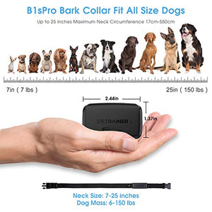 (X674)Dr.Trainer B1s Pro Bark Collar, Smart Barking Collar with Smartphone APP & Watch APP Control, Bark Control Training Collar