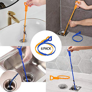 (X306)25 Inch Snake Drain Clog Remover Tool and 20 Inch Hair Drain Cleaner Tool, Hair Clog Cleaning Tool for Sink Toilet Bath Shower Kitchen Bathroom ...