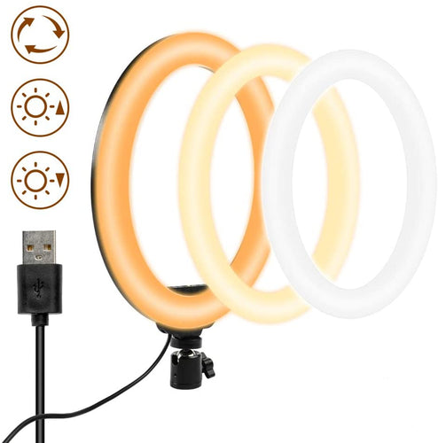 (Q793)10 Inch LED Ring Light Without Stand Selfie Makeup Desktop Ring Light No Stand for YouTube Live Streaming Photography Light Ring Studio Photo Video Shooting Vlog Ring Fill Light