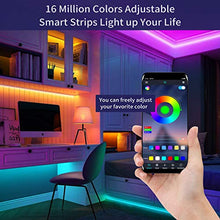 Load image into Gallery viewer, (J560) Led Strip Lights 24.6FT KESHU Color Changing APP Control with Remote for LED Light Strips Kit for Bedroom Room