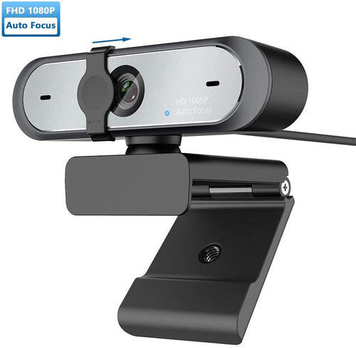 (W468)JamBer 2020 1080p Webcam with Microphone and Privacy Cover, AutoFocus, HD USB Web Camera, for Zoom Meeting YouTube Skype FaceTime Hangouts