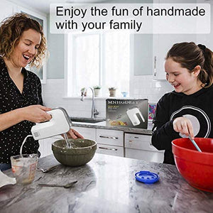 (S610)Electric Hand Mixer 5 Speed Ultra Power Handheld mixer with Turbo and Easy Eject Button,2 Mixing Sticks,2 Dough Hooks Mix Cookies
