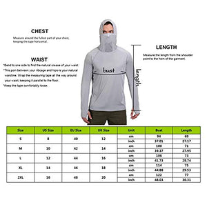 (H2313)Litthing Men's Face Mask Sunscreen Quick-Drying Hoodie Thumb Hole Outdoor Long Sleeve Fitness Fishing Suit