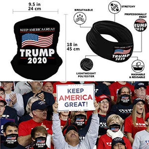 (T010)2020 Flag 3x5 Outdoor and Indoor Decoration Banner, Included Hat, Bandana, Handheld Flags (Slogan Package)