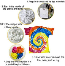 Load image into Gallery viewer, (R868)KISSBELLY 5 Colours One Step Tie Dye Kit Shirt Fabric Textile Paints Dying Kits Permanent Clothes Graffiti Jacquard Pigment for Adults Kid