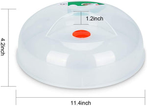 (A811) Microwave Plate Cover, 11.5 Inch BPA Free Dishwasher Safe