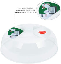 Load image into Gallery viewer, (A811) Microwave Plate Cover, 11.5 Inch BPA Free Dishwasher Safe