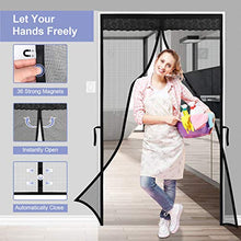 Load image into Gallery viewer, (V233)agnetic Screen Door for Sliding Glass Door innhom Screen Doors with Magnets, Door Screen Magnetic Closure, Fiberglass Heavy Duty...