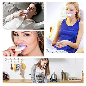 (Y059)Teeth Whitening,Bright Teeth Whitening Kit with LED Light Mouth Tray, 5 Syringes of 5ml Professional 35% Carbamide Peroxide Tooth Whitening