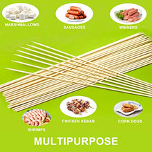 Load image into Gallery viewer, (K089)ANERNAI Marshmallow Roasting Bamboo Sticks 36 Inch 6mm Thick Extra Long Heavy Duty Wooden Skewers, Ideal for Skewers Hot Dog Forks