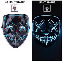 Load image into Gallery viewer, (T372)Halloween Mask Light Up, Halloween LED Scary Costume Mask, Cool Cosploy, EL Wire Horror Mask, Used for Halloween Party, Holiday Party