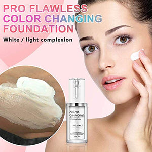 (S932)2 Pack Liquid Foundation,All-Day Flawless Color Changing Foundation,Cream Foundation,Pore Refining...