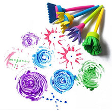 Load image into Gallery viewer, (G345)Kids Art & Craft Sponge Painting Brushes Kids Painting Kits Early DIY Learning Include Foam Brushes,Art Crafts Sponge Brush, Flower Pattern Brush, ...