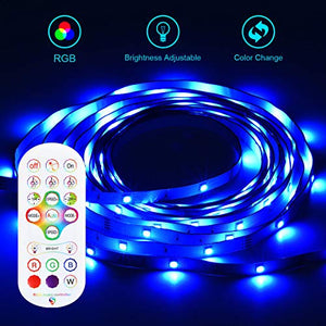 (J560) Led Strip Lights 24.6FT KESHU Color Changing APP Control with Remote for LED Light Strips Kit for Bedroom Room