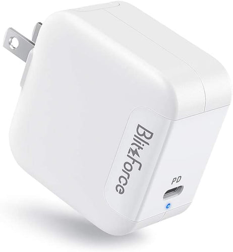 (E791)USB C Charger[GaN Tech],Blitzforce 65W PD 3.0 Wall Charger Type C Fast Charging