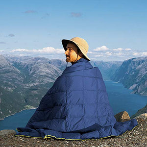"(X651)Puffy Camping Blanket 80"" X 54"" Outdoor Ultralight Backpacking Quilt Super Warm Hammock Top Quilt Wearable Adventure Blankets Waterproof Stadium ..."