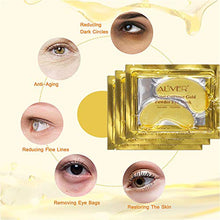 Load image into Gallery viewer, (T524)Under Eye Collagen Patch, 24K Gold Anti-Aging Mask, Pads for Puffy Eyes & Bags, Dark Circles and Wrinkles, with Hydrogel, Deep Moisturizing Improves elasticity