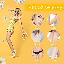Load image into Gallery viewer, (R712)Wax Strips Hair Removal for Face Body Underarm Bikini Leg,50 Count Strips & 6 Finished Wipes,Chamomile Scent