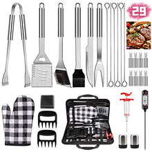 Load image into Gallery viewer, (J501)iToncs 2021 Grilling Accessories BBQ Tools Set, 29 PCS Stainless Steel Grill Kit with Case, Great Barbecue Utensil Tool for Men, Dad