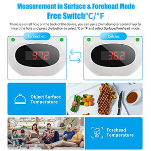 (V224)XDX Infrared Thermometer for Adults Non Contact, Wall Mount Forehead Thermometer Digital Temperature Thermometer