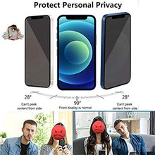 Load image into Gallery viewer, (X454)4-Pack Privacy Screen Protector with Camera Lens Protector for iPhone 12 Pro[6.1''] HoiLong 9H Diamonds Anti-Spy Tempered Glass Film...