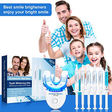 Load image into Gallery viewer, (Y059)Teeth Whitening,Bright Teeth Whitening Kit with LED Light Mouth Tray, 5 Syringes of 5ml Professional 35% Carbamide Peroxide Tooth Whitening