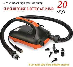 (R995)20PSI High Pressure SUP Pump,12V DC Intelligent Dual Stage Auto-Off Function Stand-up Board Pump