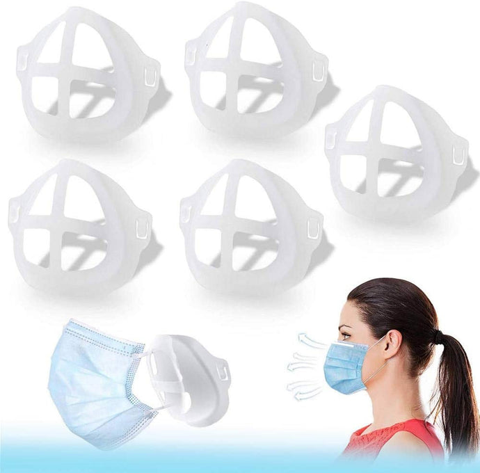 (D404)3D Mask Bracket - GX Protect Lipstick Lips - Internal Support Holder Frame Nose Breathing smoothly - DIY Face Mask Accessories(5Pcs) (Large-Adult)