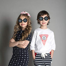 Load image into Gallery viewer, (D992)Sunglasses for Kids Round Flower Cute Glasses UV 400 Protection Children Girl Boy Gifts by ZIRANYU
