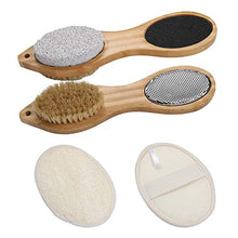 Load image into Gallery viewer, (H0115)Piklohas Foot File Callus Remover, 2 Pieces 4 in 1 Feet Pedicure Tools with Foot Scrubber, Pumice Stone, Foot Rasp and Sand Paper