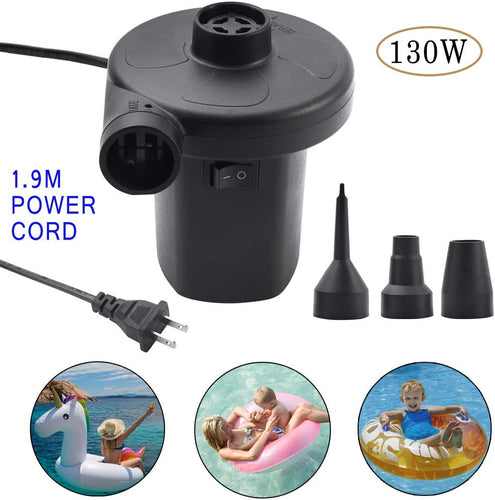 (E651) Electric Air Pump Air Mattress Portable Pump for Air Mattress Inflatable Bed Seat Boats