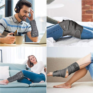 (H970)Wireless Heating Pad Wrap for Pain Relief,HailiCare Rechargeable Flexible Heating Pad Therapy for Wrist Elbow Leg and Arm with 3 Heating Settings and Portable Charger 43 X 2.5""