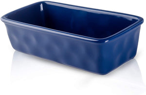 (X093)DUS Bread Pan Loaf Pan 8.5 inch Ceramic Bread Baking Pans for Porcelain Toast Baking Bread Pans Nonstick Meatloaf Pan, Dark Blue