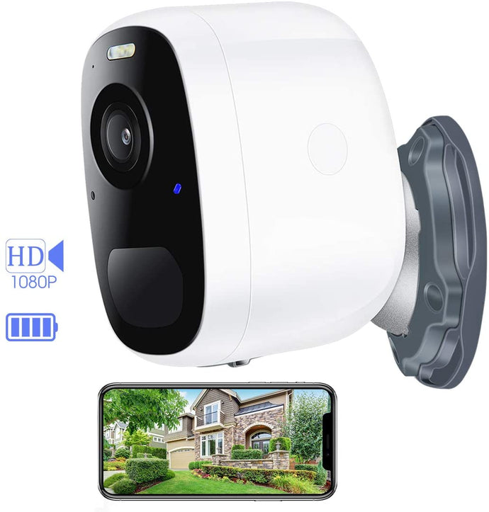 (E016)Wireless Outdoor Camera, Outdoor Security Camera, Rechargeable Battery Powered Security Camera, 1080P Video with 2-Way Audio Motion Detection, Night Vision