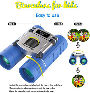 (S462)Simitten Binocular for Kids 10X22 for 3-12 Years Grils and Boys Suit for Bird Watching, Hiking, Hunting, Outdoor Games, Spy & Camping Gear