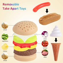 Load image into Gallery viewer, (W302)Shimfun Play Food Set, 130pc Play Food for kids & Toddlers Kitchen Toy Playset. Pretend Play Fake Toy Food, Play Kitchen Accessories with Realistic Colors