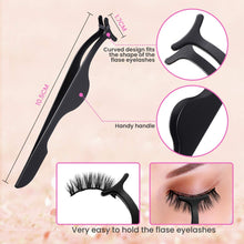 Load image into Gallery viewer, (Q970)Eyelash Curler, HOCOSY 4 in 1 Eyelash Curlers Kit for Women includes Lash Curler, Eyelash Brush, Eyelash Extension Tweezers, Eyebrow Brush and Comb
