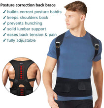 Load image into Gallery viewer, (B904) Back Brace Posture Corrector for Men - Posture Corrector for Women - Upper Back Posture
