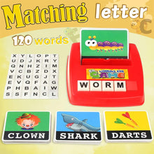 Load image into Gallery viewer, (D454)Matching Letter Game,Letter Sight Words Flash Cards Fun Match Game Spelling Learning Reading Educational Game Toy for Kindergarten Preschooler