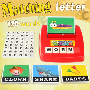 (D454)Matching Letter Game,Letter Sight Words Flash Cards Fun Match Game Spelling Learning Reading Educational Game Toy for Kindergarten Preschooler